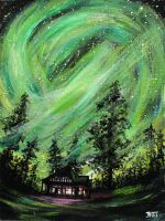 Cabin of the Lights by ThisArtToBeYours