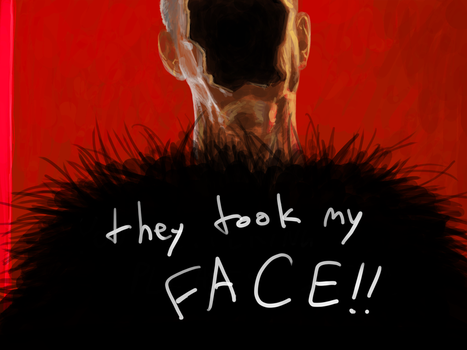they took my FACE!! by itchcrotch