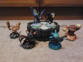 My Skylanders so far by IceyDragoness