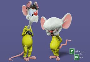 Pinky and The Brain Breaking Bad adaption by AMCarbonBlack
