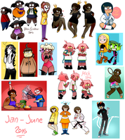 jan-june 2015 doodles by cyclopsette