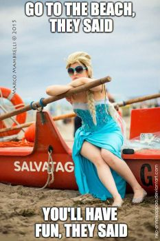 The snow queen at the beach meme by Nko-ennekappao