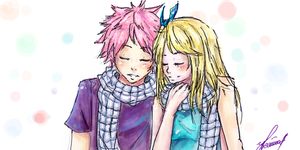 sketch Natsu and Lucy by Ripulka