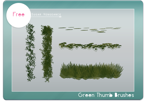 SV Green Thumb Brushes by svp-stock