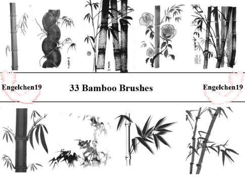 Bamboo Bambus Brushes PS 7 by Engelchen19