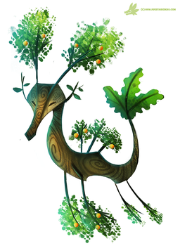 Daily Paint #1037. Summer Sea-Dragon by Cryptid-Creations