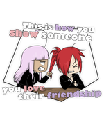 How you show you love their friendship by Sakura-Rose12
