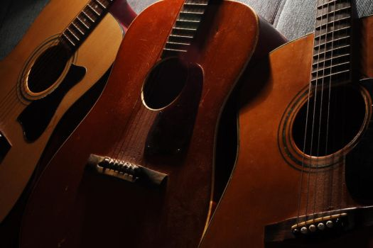 3 guitars 2 by Wilber