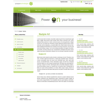 Synapsetech homepage by lefiath
