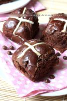 Chocolate Chip Hot Cross Buns by claremanson