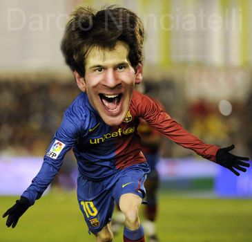 Caricature Lionel Messi by dnunciate
