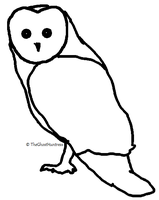Free to use owl lineart by TheGhostHuntress