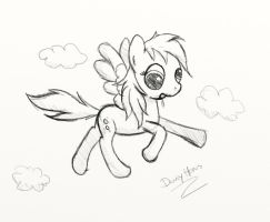 Derpy in the sky - Sketch by dennyhooves