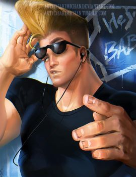 Johnny Bravo by sakimichan