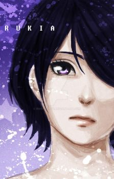 Rukia speed paint by Roots-Love