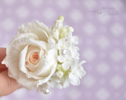 Bridal accessory from air dry clay. by NatLock