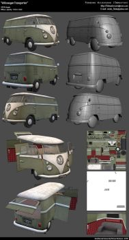 Old VW Transporter - Lowpoly by 3dmaxter
