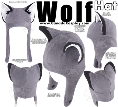 Wolf Hat by KayPikeFashion