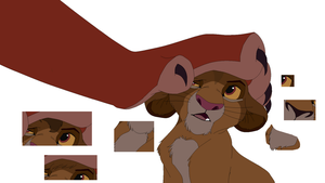 Simba and Scar Base by CandyNtheSweetettez