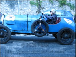 blue car in a good way...go on by Pixiel