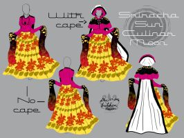 Sriracha Sunset Gown by Pearllight180