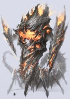 Fire Colossus Full Body View by cyl1981
