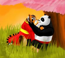 Tigress and Po kiss by poxtigress568 on DeviantArt