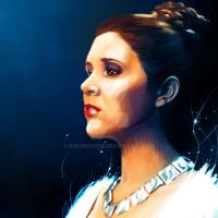 Carrie Fisher Princess Leia Oragna by kdconverse
