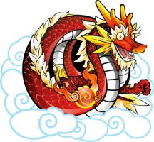 Red Chinese Dragon by Witchking00