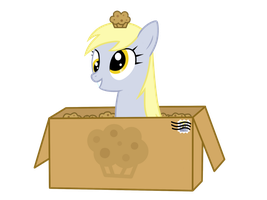 Derpy - Mailing Herself With Muffins by Caramell-Dansen