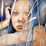 Today, right now...never, watercolor painting by jane-beata