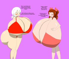 Santa-chan and Valerie's new curves by DLeagueman