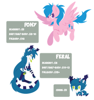 Simple Commission Price Sheet by Kimmorz