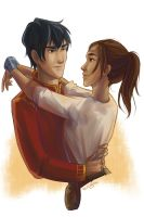 Kai and Cinder by taratjah