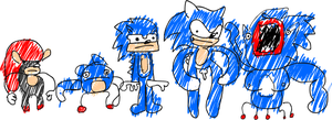 HOW 2 DRAW SANIC DE HADGEHUG by DoodleWill