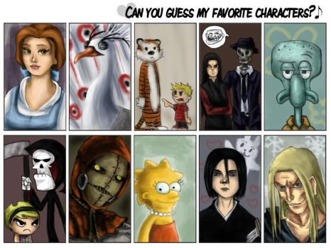 Favorite characters. by TheGreatestFrog