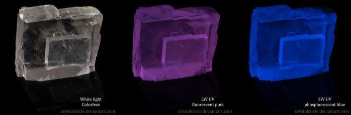 Calcite and two UV lights by CrystalCircle