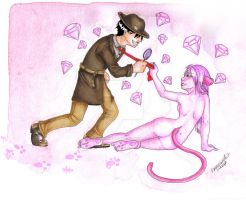 : The Pink Panther : by Porcelain-Angel