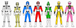 Power Rangers Masked Sages by Ameyal