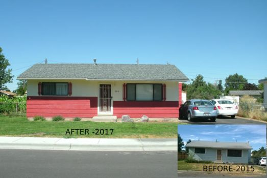 BEFORE AND AFTER ON HOUSE PAINTING by sweetpie2