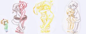 some planetary moe chibi doodles by Sparx-Punx