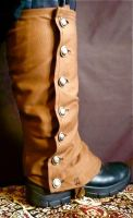 Long Military Steampunk Spats by teatimeinc