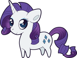 Chibi Rarity by Squeemishness