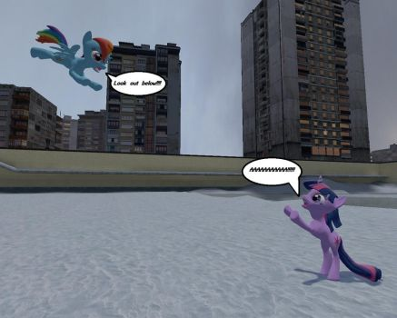 Gmod Ponies in snow by knight-rider-2000