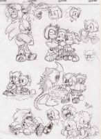 two werehogs.sketches by Paumol