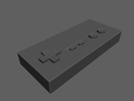 NES Controller Flat-Shaded by FiestaFacelift