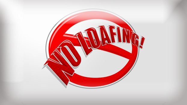 Strong Bad's 'No Loafing!' sign Wallpaper Full HD by NuclearTestSite