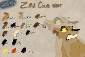 Zira color sheet by Takadk
