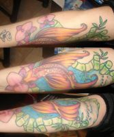 Cross and roses by britkneemo on deviantart for Koi pond tattoo