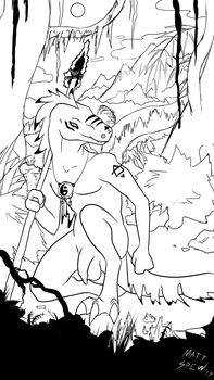 Dino in Jungle by GayMetal